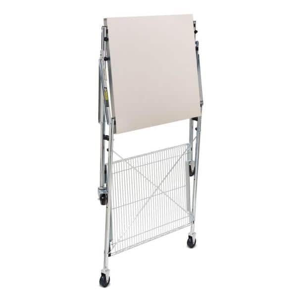 Honey Can Do 30 In Stainless Steel Portable Folding Utility Table Tbl 01566 The Home Depot