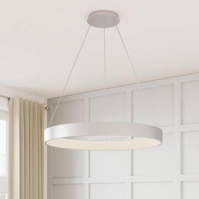 Hollandale 200-Watt Integrated LED White Pendant