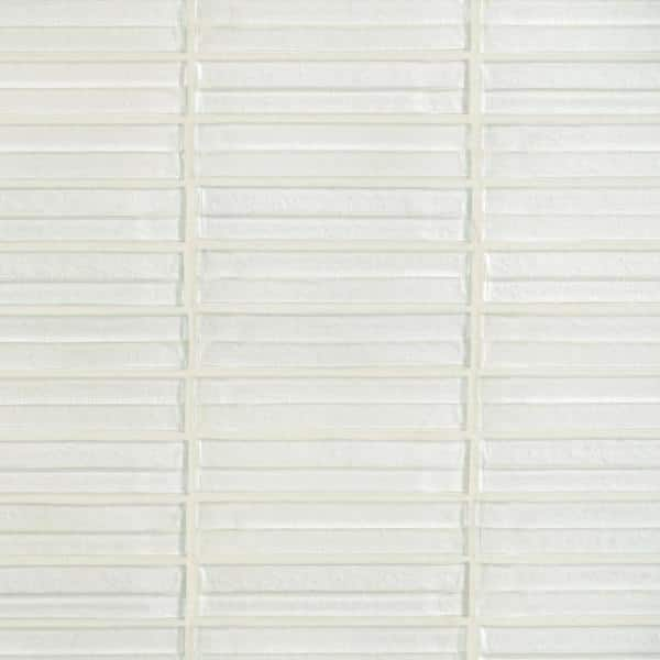 Ivy Hill Tile Tara White 11 61 In X 11 73 In Stacked Glass Mosaic Tile 0 95 Sq Ft Sheet Ext3rd105435 The Home Depot