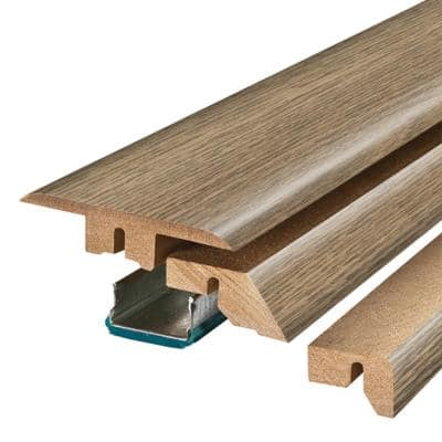 Southport Oak/Bleached Woodland Oak 0.75 in. Thick x 2.37 in. Wide x 78.7 in. Length Laminate 4-in-1 Molding