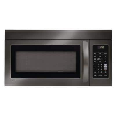 1.8 cu. ft. Over the Range Microwave with Sensor Cook and EasyClean in Black Stainless Steel