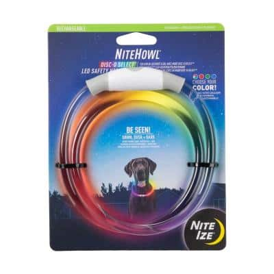NiteHowl LED Rechargeable Safety Necklace, Disc-O Select