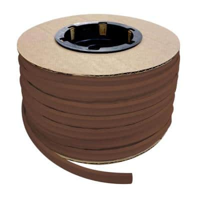 1/2 in. x 100 ft. Brown PVC Inside Corner Self-Adhesive Flexible Caulk and Trim Molding