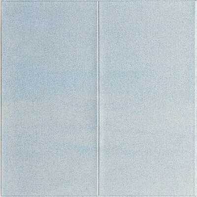 28 in. x 28 in. Light Blue 3D Embossed Texture LinenLook Vinyl Peel and Stick Wall Panel (20-Piece)