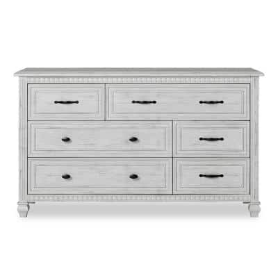 Madison Antique Grey Double Dresser (6-drawer)