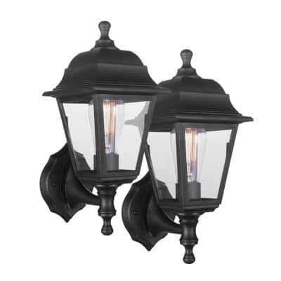 Cabot Coastal 1-Light Black Reversible Polycarbonate Outdoor Wall Sconce (2-Pack)