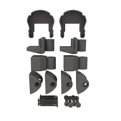 VersaRail Cambridge Matte Bronze Aluminum Top Level Angle Bracket Kit