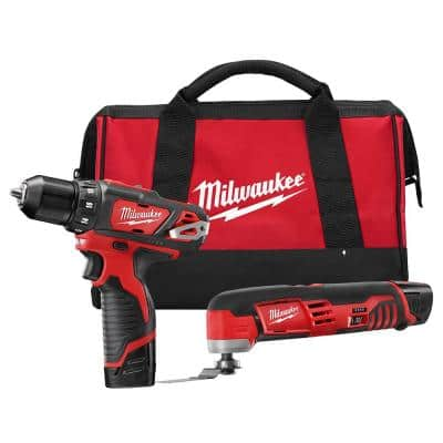 M12 12-Volt Lithium-Ion Cordless Drill Driver/Multi-Tool Combo Kit (2-Tool) with (2) 1.5 Ah Battery and Tool Bag