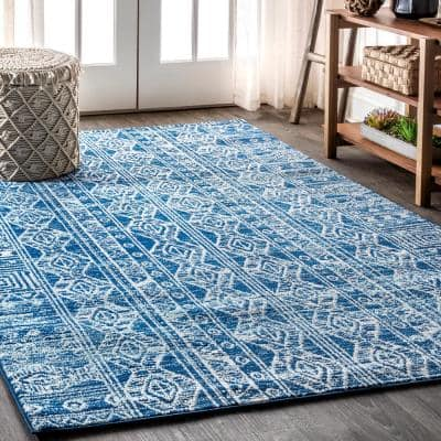 Blue Gray Area Rugs Rugs The Home Depot