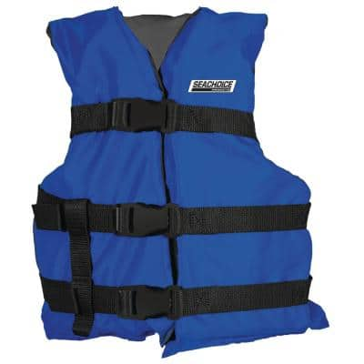 Seachoice General Purpose Life Vest For 50 Lbs 90 Lbs Youth Size 85333 The Home Depot