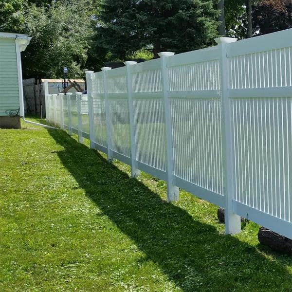 Weatherables 5 In X 5 In X 9 Ft Vinyl Fence Blank Post Lwpt Blank 5x108 The Home Depot