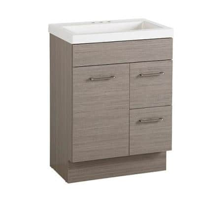 Jayli 24 in. W x 17 in. D x 34 in. H Bath Vanity in Haze with Cultured Marble Vanity Top in White with White Sink