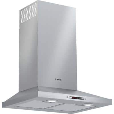 300 Series 24 in. 300 CFM Convertible Wall Mount Range Hood with light in Stainless Steel