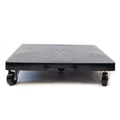 16 in. x 16 in. x 4 in. Black HDPE Square Plant Dolly/Caddy
