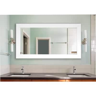 34 In W X 67 H Framed Rectangular, Double Wide Bathroom Mirror