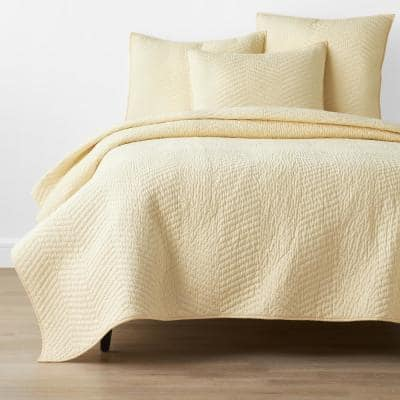 Company Cotton Buttercream Solid King Quilt