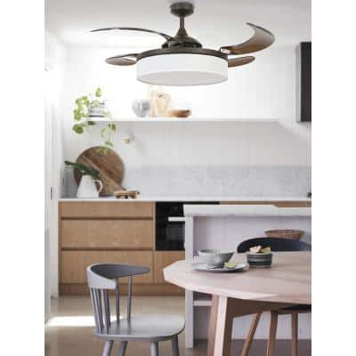 Fraser 48 in. Oil Rubbed Bronze AC Ceiling Fan with Light