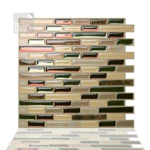 Como Mare 10 in. W x 10 in. H Peel and Stick Self-Adhesive Decorative Mosaic Wall Tile Backsplash (10-Tiles)