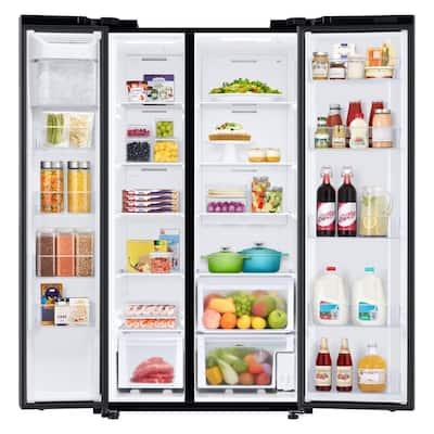 28 cu. ft. Smart Side-by-Side Refrigerator in Fingerprint Resistant Black Stainless Steel