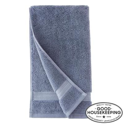 Egyptian Cotton Hand Towel in Steel Blue