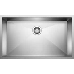 PRECISION R0 Undermount Stainless Steel 32 in. Single Bowl Kitchen Sink