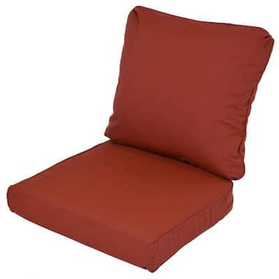 Lemon Grove Sunbrella Canvas Henna Replacement 2-Piece Outdoor Loveseat Cushion