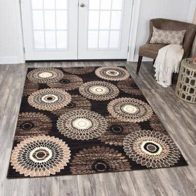Xcite Brown 5 ft. 2 in. x 7 ft. 3in. Rectangle Area Rug