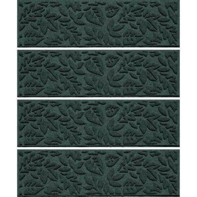 Fall Day 8.5 in. x 30 in. Stair Treads (Set of 4) Evergreen