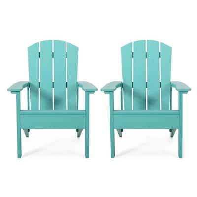 Giulietta Teal Wood Adirondack Chair (2-Pack)