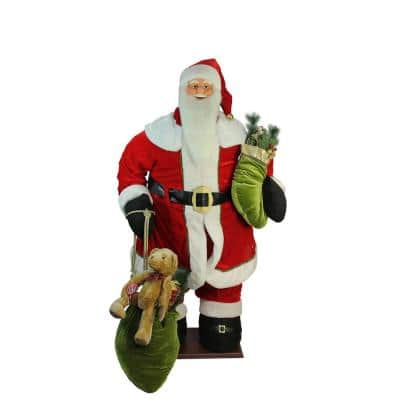 60 in. Christmas Life-Size Deluxe Animated Musical Inflatable Santa Claus Figure