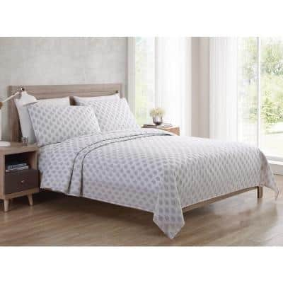 Bedding Sheet Set, Paisley - Grey, 4pc Queen