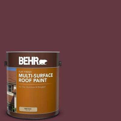 1 gal. #MQ1-14 Twinberry Flat Multi-Surface Exterior Roof Paint