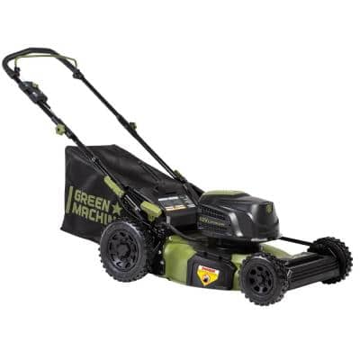 62-Volt Cordless 3-in-1 High Wheel Push Walk Behind Mower, Cutting Width 22 in. with 4 Ah Battery and Charger