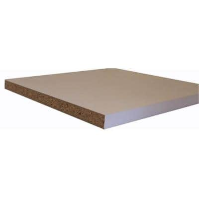 White Melamine Wood Shelf 15.75 in. D x 97 in. L