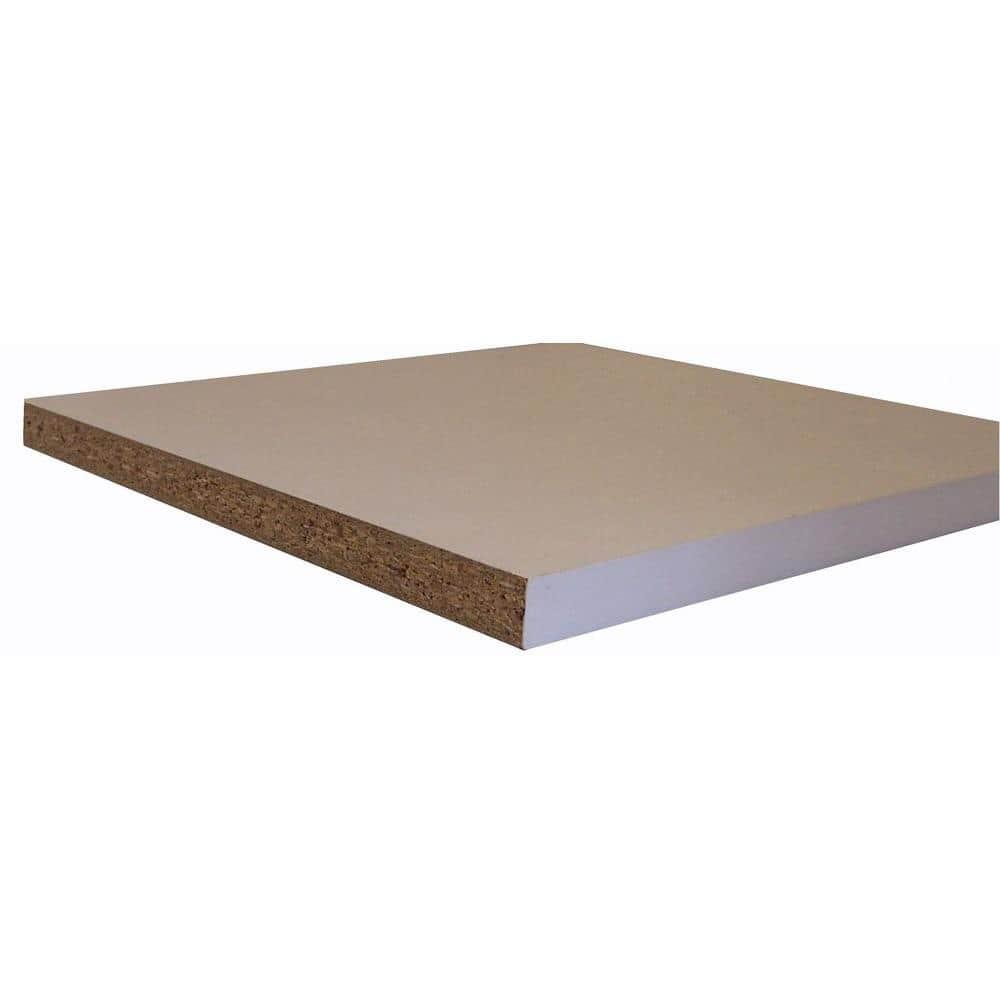 Veranda White Melamine Wood Shelf 23 75 In D X 48 In L 252297 The Home Depot