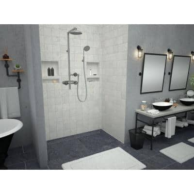 Redi Trench 36 in. x 60 in. Barrier Free Shower Base with Back Drain and Tileable Trench Grate