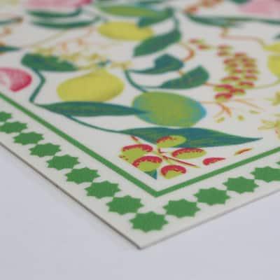Citrus Green 3 ft. x 3 ft. Indoor/Outdoor Vinyl Floor Rug