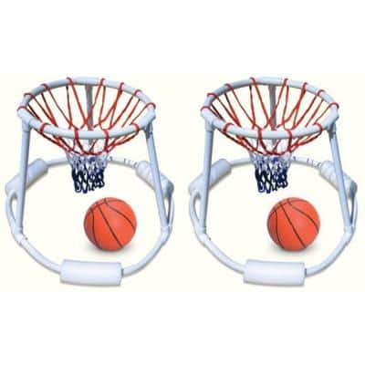 Swimming Pool Quality Floating Super Hoops Fun Basketball Games (2-Pack)
