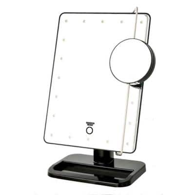 8.15 in. x 13 in. LED Lighted Tri-View Makeup Mirror