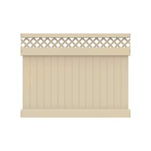 Anderson 6 ft. x 8 ft. Sand Vinyl Lattice Top Fence Panel
