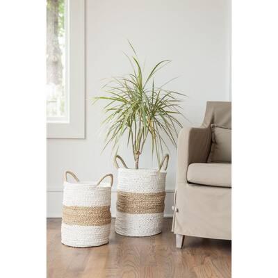 Savannah Round Seagrass Decorative Baskets (Set of 2)