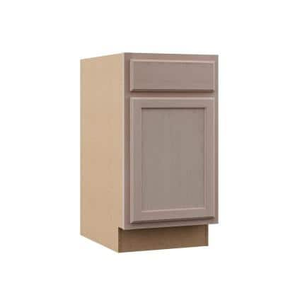 Hampton Unfinished Beech Recessed Panel Stock Assembled Base Kitchen Cabinet (18 in. x 34.5 in. x 24 in.)