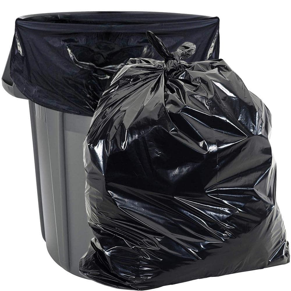 "HDPE 40/""W x 48/""H 45 Gallon Trash Bags Black Trash Bags//Can Liner"