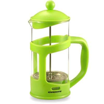 8-Cup Green French Press Cafetire Heat-Resistant Borosilicate Glass Coffee and Tea Maker FREE Measuring Scoop