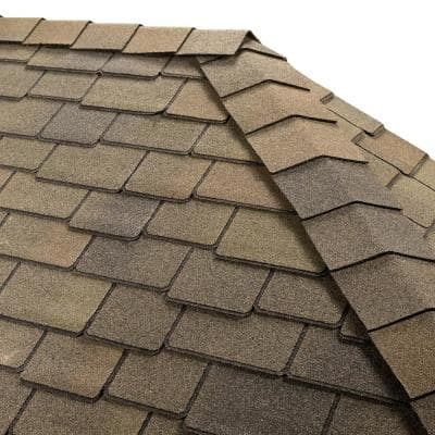 Timbertex Mountain Sage Double-Layer Hip and Ridge Cap Roofing Shingles (20 lin. ft. per Bundle) (30-pieces)