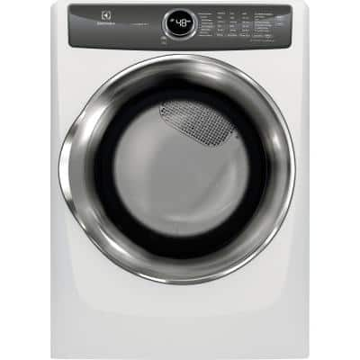 8.0 cu. ft. Front Load Perfect Steam Gas Dryer with LuxCare Dry and Instant Refresh in White
