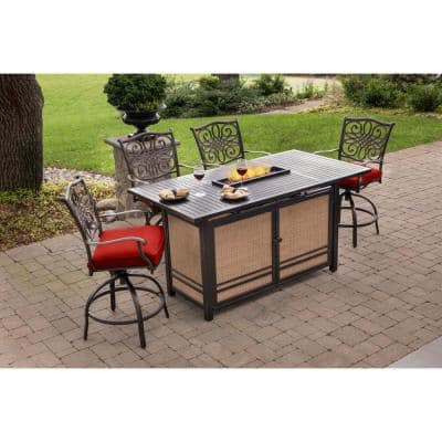 Fire Pit Included Patio Dining Sets Furniture The Home Depot