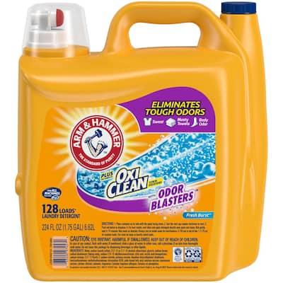 224 oz. Fresh Burst Liquid Laundry Detergent with OxiClean Odor Blasters (128 Loads)