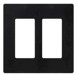 Claro 2 Gang Decorator/Rocker Wallplate, Matte, Midnight (1-Pack)