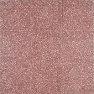 Raleigh Rose Square 16 in. x 16 in. Polished Cement Terrazzo Floor and Wall Tile (3.55 sq. ft./Case)